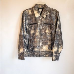 Chico's Floral Metallic Brocade Tapestry Jacket